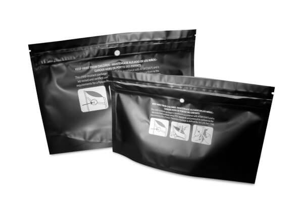 Child Resistant Mylar Dispensary Exit Bags